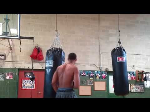 Terrence Boxing training