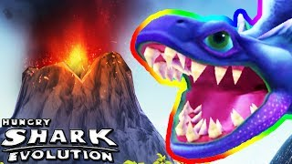 ALAN, DOW IN THE VOLCANO (HUNGRY SHARK EVOLUTION)