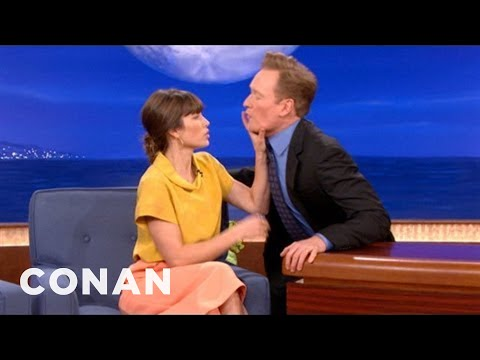 Flirt Fight: Jessica Biel vs. Conan O'Brien - CONAN on TBS