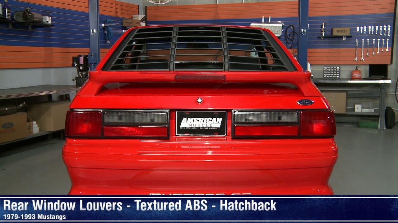 Mustang Rear Window Louvers Textured Abs Hatchback 79