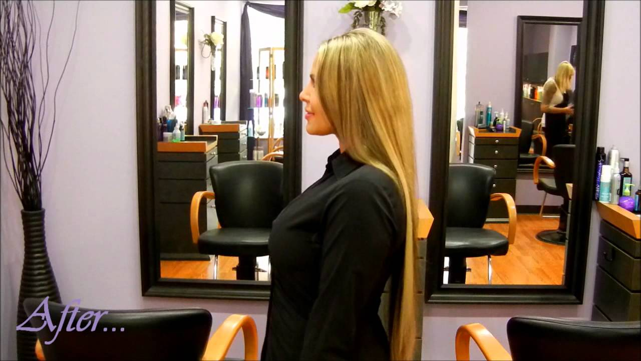 Hair extensions before after from p j company salon - Hair salon extensions ...