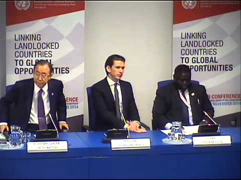 Ban Ki-moon on Ebola - Press Conference, 2nd UN Conference on Landlocked Developing Countries