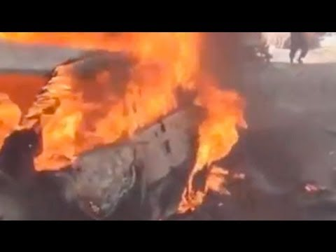 Syria bombing: dramatic aftermath of blast in Kafranbel, Idlib
