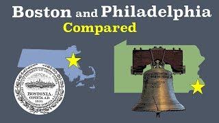Boston and Philadelphia Compared