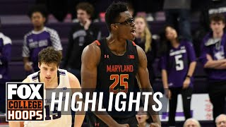 Jalen Smith's big second-half powers Maryland's win over Northwestern | FOX COLLEGE HOOPS HIGHLIGHTS