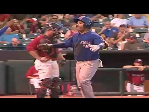 Manny Ramirez hits a home run for the I-Cubs