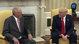 President Trump Meets With President Pedro Pablo Kuczynski of Peru