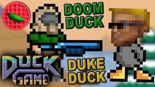 DOOM DUCK vs DUKE DUCK! -- Let's Play Duck Game (Local Versus)(Steam Workshop)
