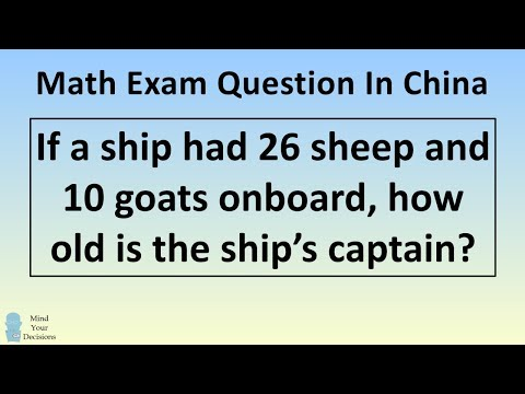 The REAL Answer To The Viral Chinese Math Problem How Old Is The Captain?