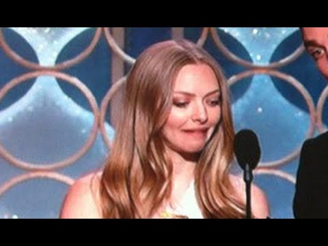 Amanda Seyfried Messes up reading cue cards with Seth Macfarlane 2014 MTV Movie Awards MY THOUGHTS