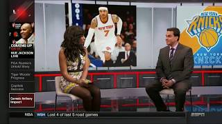 Cari Champion Bare Legs and Stockings | ESPN