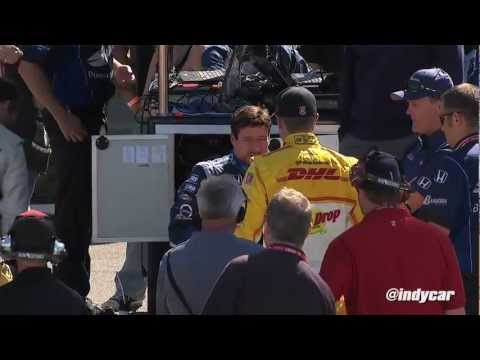 Hunter-Reay Upset with Tagliani at Sonoma