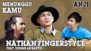 Menunggu Kamu (Anji) Cover - Nathan Fingerstyle Guitar Feat. Dhidink Ar Rasyid