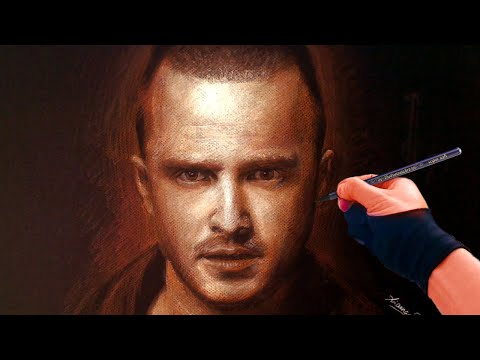 Breaking Bad's Jesse Pinkman Portrait time-lapse Drawing