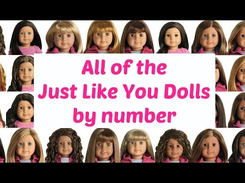 All of the Just Like You dolls (a.k.a My American Girl) Listed by Numbers all 61 (2014)