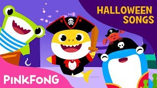 Pirate Baby Shark   Halloween Songs   Pinkfong Songs for Children