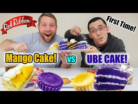 Red Ribbon Mukbang   Mango Cake VS Ube Cake   Filipino Bake Shop   Filipino Dessert   Food Review