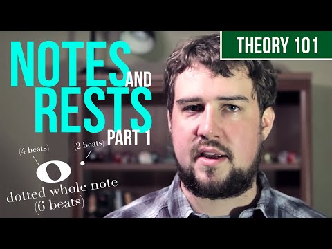Notes and Rests, Part 1 - TWO MINUTE MUSIC THEORY #4