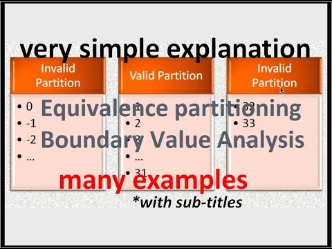 Equivalence Partitioning and Boundary Value Analysis - Software Testing Tutorial