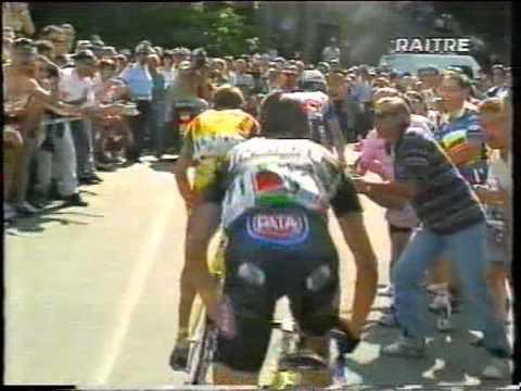 Racconigi- Oropa 15°tappa Giro d' Italia 1999 Marco Pantani RAI