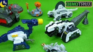Lots of Dinotrux Diecast Toys Pounder Splitter Skrap It D Strux Lair Ty Rux Reptools Playset Toys