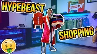 Buying the Rarest Supreme Clothes in the World! (Hypebeast Shopping)