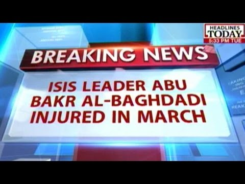 ISIS Leader Abu Bakr Al-Baghdadi Injured In Air Strike