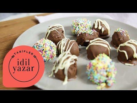 2 Malzemeli Bonbon | Çikolatalı Tatlı Tarifleri | İdil Yazar ile Yemek Tarifleri