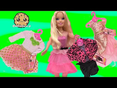 Best Fashion Friend Super-sized Barbie Doll + Dress Up Clothing Toy Review Video Cookieswirlc