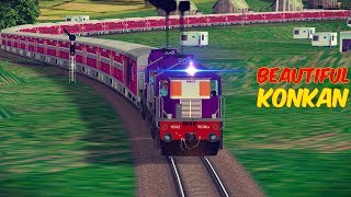Beautiful Konkan Railways : S Curves , Hills , Tunnels || Tourist Premium Special Train