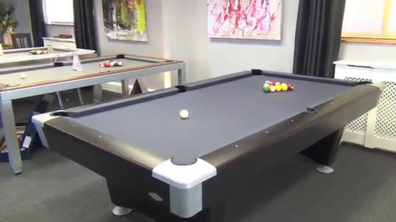 Brunswick black wolf pool table youtube for 10 pool table