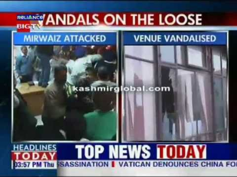 VHP men attack Mirwaiz in Chandigarh 'clashes in Kashmir