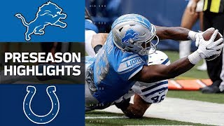 Lions vs. Colts | NFL Preseason Week 1 Game Highlights