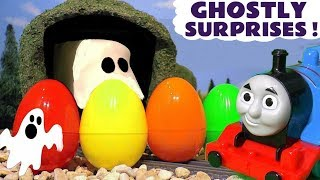 Learn Colors with Thomas and Friends Ghostly Surprises and Candy Surprise Eggs TT4U