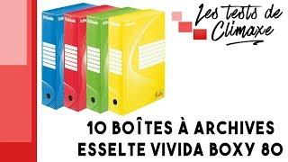 Test d'un lot de 10 boîtes à archives Esselte Vivida Boxy 80