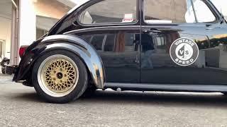 Vintage Speed Sebring Exhaust on German Look VW bug Beetle