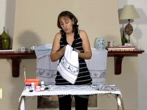 Artesanto: Decoupagem em pano de prato