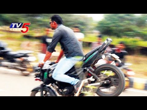 Youngsters Bike Racing In Hyderabad | TV5 News