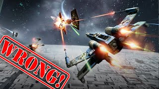 Realistic sci-fi spaceship combat and dogfights