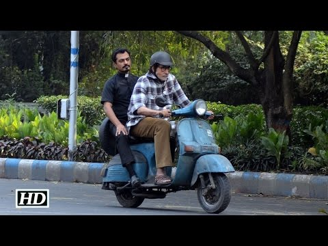 Watch: Amitabh Bachchan drives scooter with Nawazuddin Siddiqui