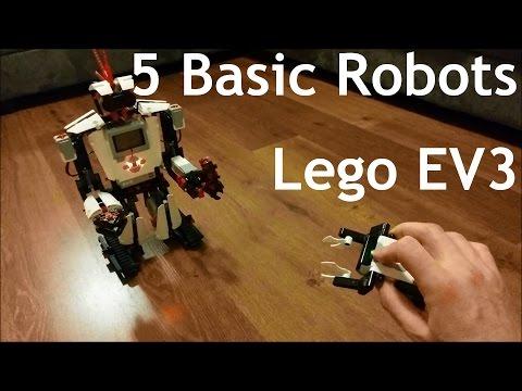 5 Basic Robots - Lego EV3 Mindstorms