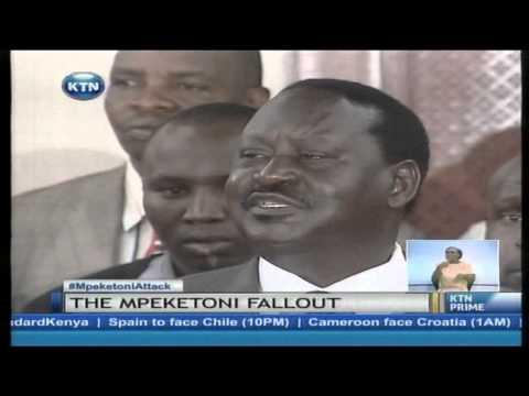 Raila Odinga terms President Kenyatta's remarks on Mpeketoni Attack unfortunate