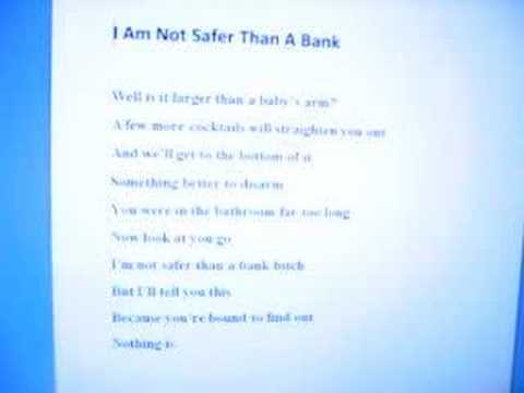 Matthew Good Band - I Am Not Safer Than a Bank