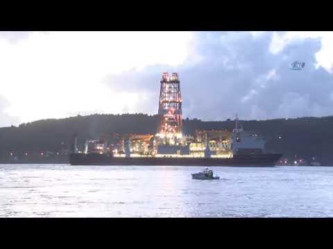 'Deepsea Metro-2' Çanakkale Boğazı'ndan Geçti