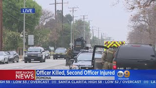 Pomona Officer Killed In Shootout, Standoff Continues With Suspect