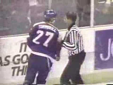 Washington Capitals / Winnipeg Jets line brawl