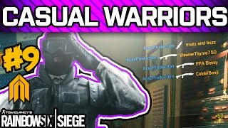 RAINBOW SIX SIEGE CASUAL WARRIORS #9 - Pro League Players Playing Casual