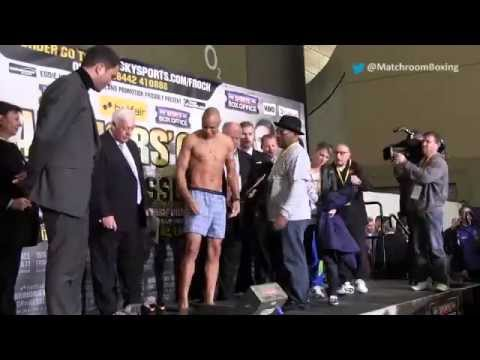 Tony Bellew & Isaac Chilemba weigh-in at the O2, London