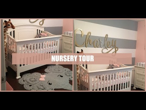 Nursery Tour | Babygirl Pink, Grey, and Animal Theme