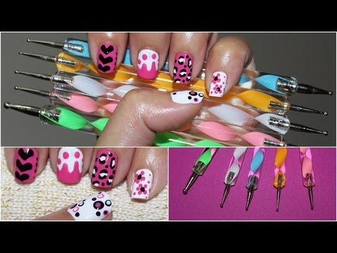 5 EASY Designs using Nail Dotters
